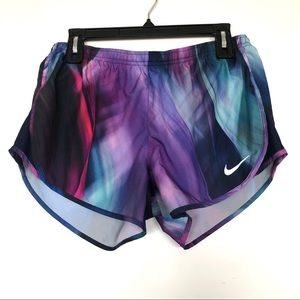 Nike Purple and Blue Running Shorts